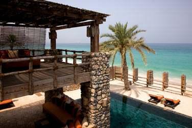 Terrasse et piscine privée de la Private Retreat